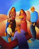 8.Jesus speaks to the women of Jerusalem - 50cm x 40cm - oil on canvas