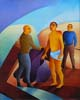 10.Jesus is stripped of His garments - 50cm x 40cm - oil on canvas