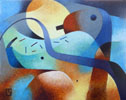 Elements in Transition - Fifth Journey - 29 cm x 24 cm oil on canvas